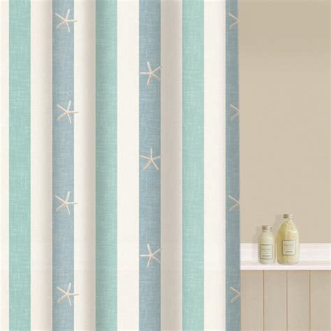 seaside shower curtains aqualona coastal stripe shower curtain achica