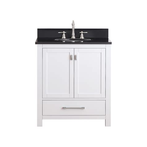 30 inch single sink bathroom vanity with soft hinges