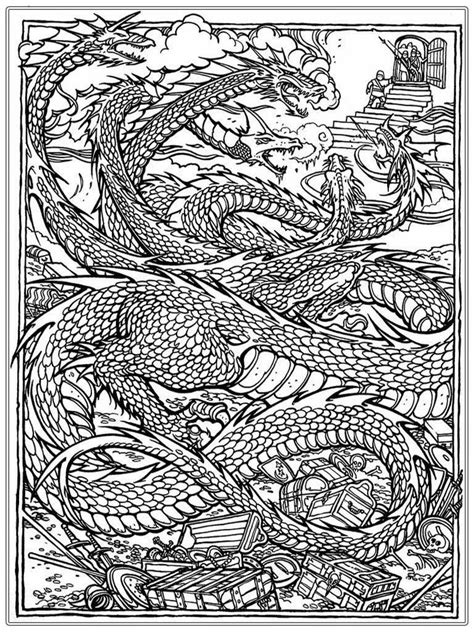 dragon coloring pages  adults  coloring pages