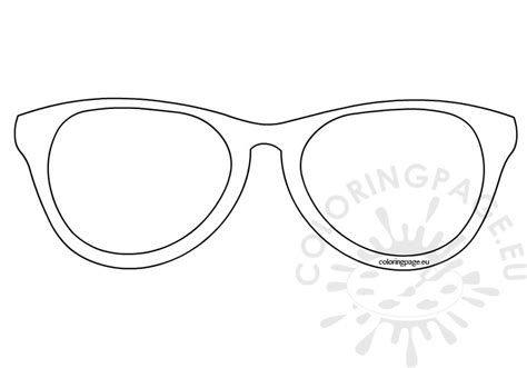 glasses template sunglasses template coloring page