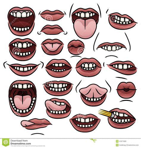 raccolta clipart raccolta della bocca illustrazione vettoriale
