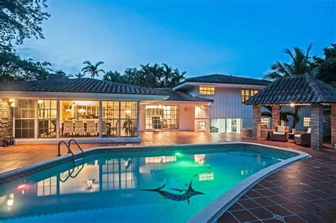 miami waterfront pool home for sale