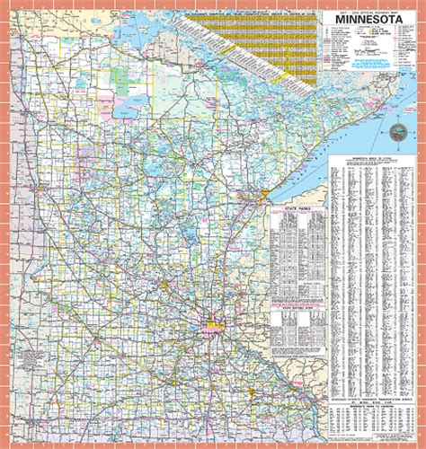 minnesota state map minnesota state road map swimnova