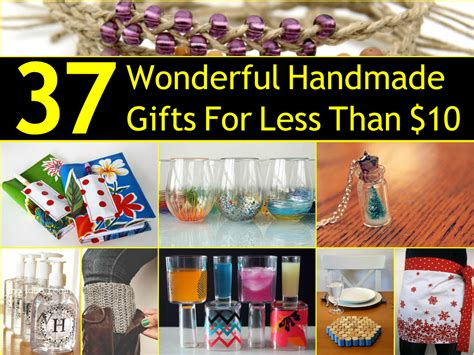 Handmade Gifts - 37 wonderful handmade gifts for less than 10