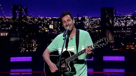 now you re singing with a swing adam sandler sings goodbye to david letterman quot now you re