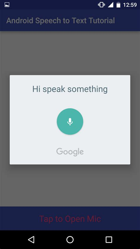 voice text android android speech to text tutorial