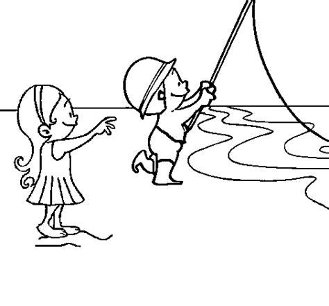 de ni a pescando para imprimir y pintar dibujos para colorear de la dibujo de amigos pescando para colorear dibujos net