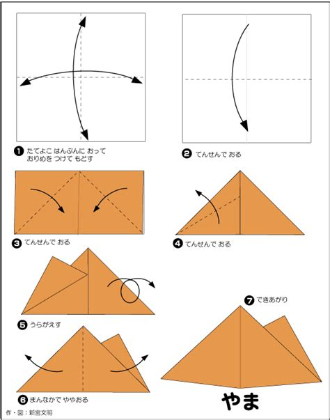 How To Make Mountain With Paper - extremegami how to make a origami mountain sceanery