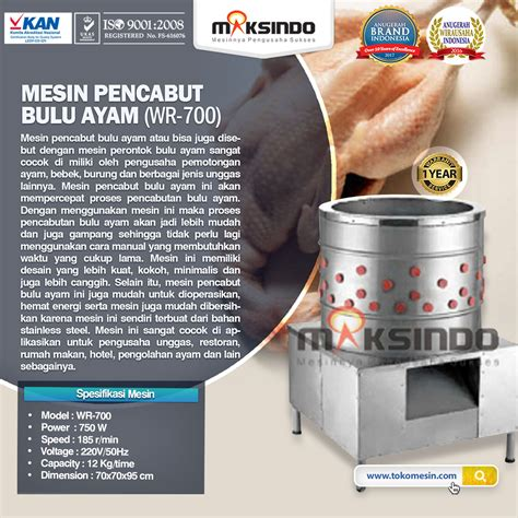 Harga Mesin Pencabut Bulu Ayam Di Makassar mesin pencabut bulu ayam dan unggas maksindo di