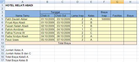 Contoh Microsoft Excel latihan 5 excel fungsi if bertingkat fairuz el said