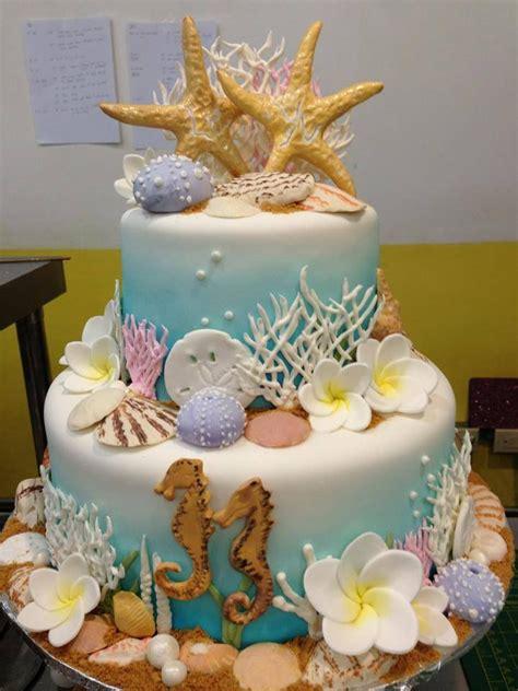 Wedding Cakes Island by Island Wedding Cake Underwater Theme Galore Sugarnomics
