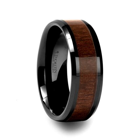 Mens Wedding Rings: Mens Wedding Bands With Wood Inlay
