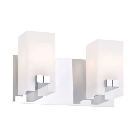 colonial bathroom lighting gemelo 2 light vanity in chrome and white opal glass by