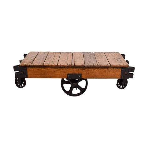 Rustic Coffee Table On Wheels Rustic Coffee Table With Wheels