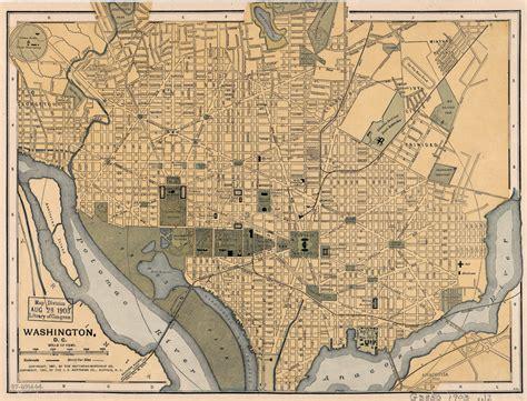 washington dc on map of usa large detailed map of washington d c 1897