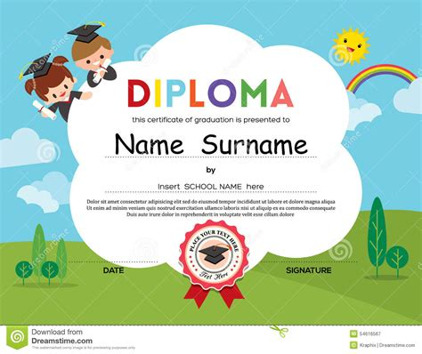 Certificate Background Clipart 77 Elementary School Graduation Diploma Template