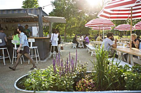 outdoor restaurants patios  cafes  chicago