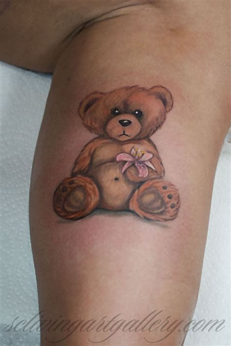 tatty tattoos brush realistic teddy by monte livingston at