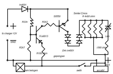 schematic lampu senter