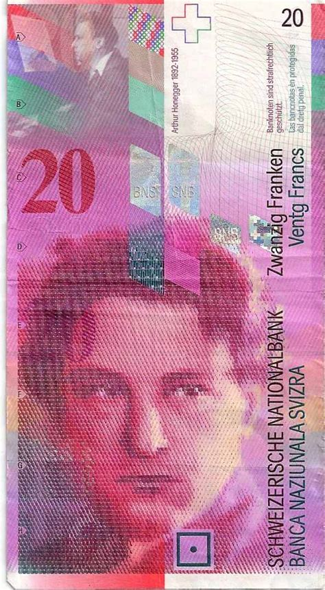 currency chf 20 swiss franc note counterfeit money detection how