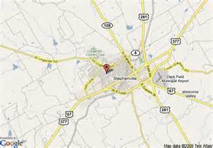 stephenville map map of hton inn suites stephenville tx stephenville