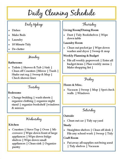top 25 best daily schedule template ideas on pinterest