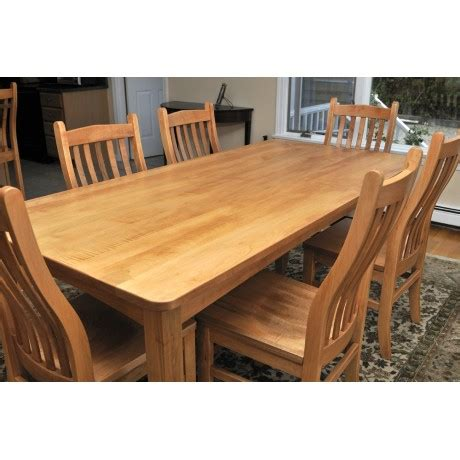 custom built amish table chairs for an unfinished