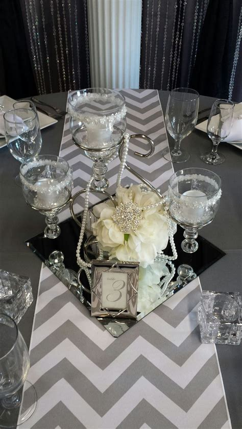 mirror centerpieces decorations   pin party decorations