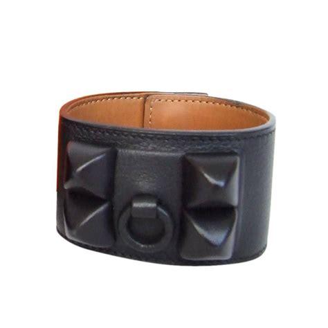 Gelang Hermes Colier De Chien Hermes Bracelet Bangles hermes collier de chien shadow cdc bracelet all black leather size m for sale at 1stdibs