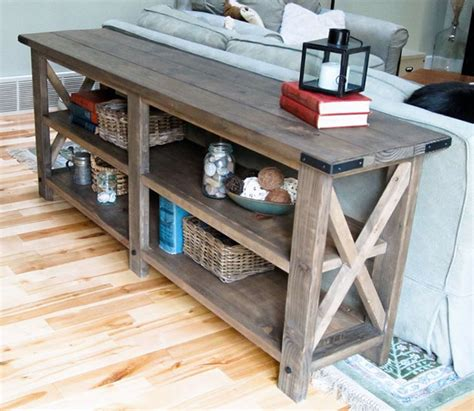 Beautiful And Elegant Reclaimed Wood Console Table Home