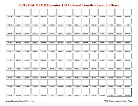 prismacolor color chart prismacolor premier 150 swatch chart color pencil ideas