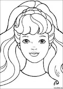 coloring page barbie face coloring me