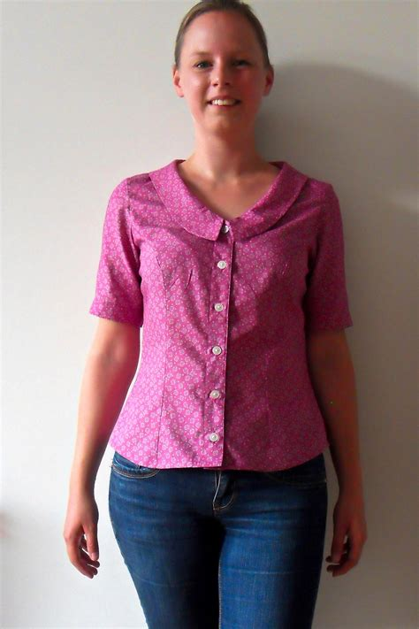 blouse with chelsea collar sewing projects burdastyle