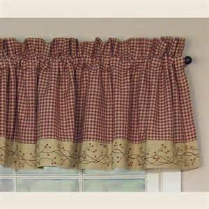 country curtains valances sale country valance curtains checker berry pattern