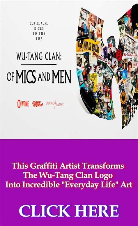 graffiti artist transforms  wu tang clan logo