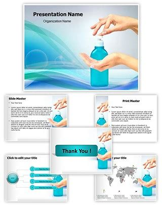 professional hand sanitizer editable powerpoint template