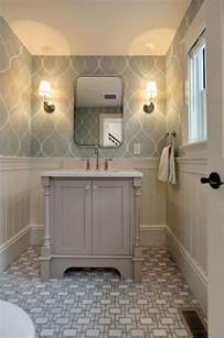 wallpaper bathroom designs best 25 bathroom wallpaper ideas on half