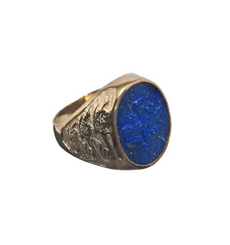 lapis gold plated sterling silver three lions and