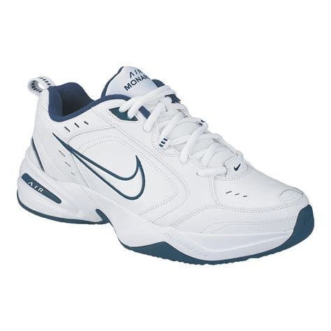 sportchek basketball shoes nike s air monarch iv 2e wide width shoes white navy