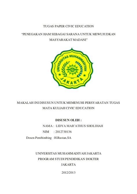 thesis about civic education tugas civic education lidya mar athus sholihah 2012730136
