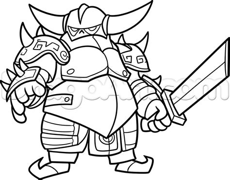clash clans how to draw royale coloring pages pinterest