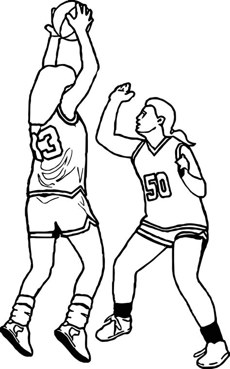 coloring pages of girl basketball players girls basketball playing guard coloring page wecoloringpage