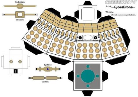 Create Your Own Papercraft - make your own cardboard dalek papercraft