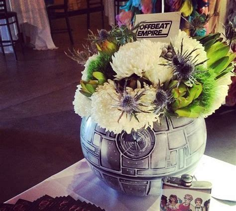 Yes, that's a DEATHSTAR FLORAL CENTERPIECE, star wars