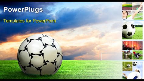 Powerpoint Template Soccer Ball Football Sport Game Collage 26651 Free Soccer Powerpoint Template