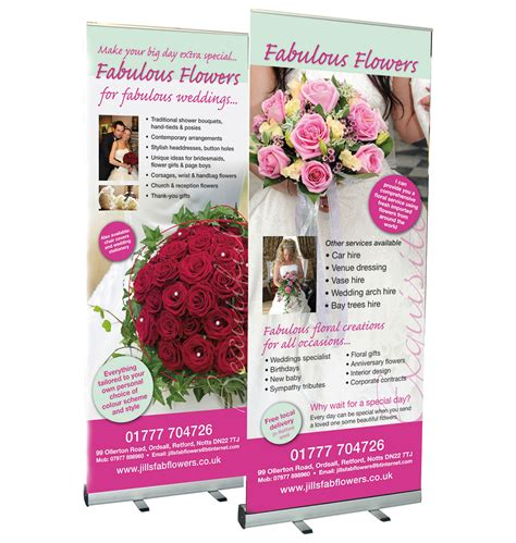 Wedding Pull Up Banner by Banners Printed Banners Banner Signs Wall Mounted