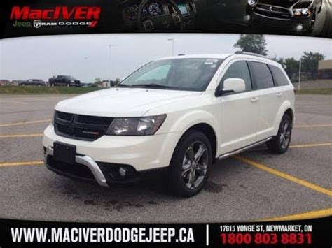 dodge jeep white 2014 white dodge journey crossroad newmarket ontario