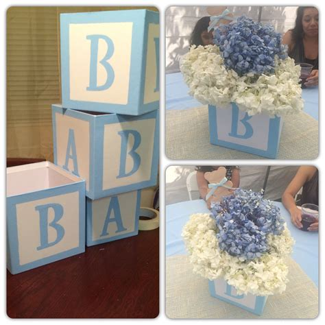 Baby Shower Diy Centerpieces by Diy Baby Block Centerpieces Shower Baby
