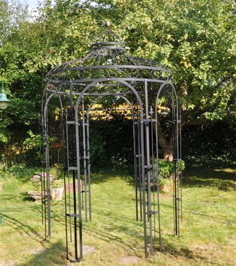 pavillon schwarz gartenpavillon eleganz metall schwarz