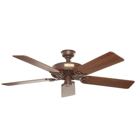 patio fans home depot hunter original 52 in indoor outdoor chestnut brown
